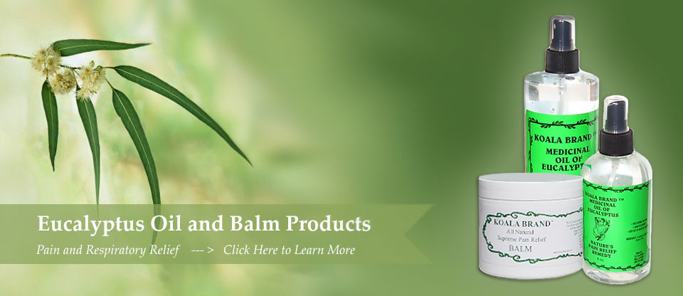 Koala Brand Products - Oil of Eucalyptus | Lavender Oil | Tea tree
